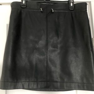 Black Faux Leather Skirt (New with tags)